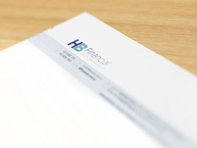 HB Financial letterhead beauty