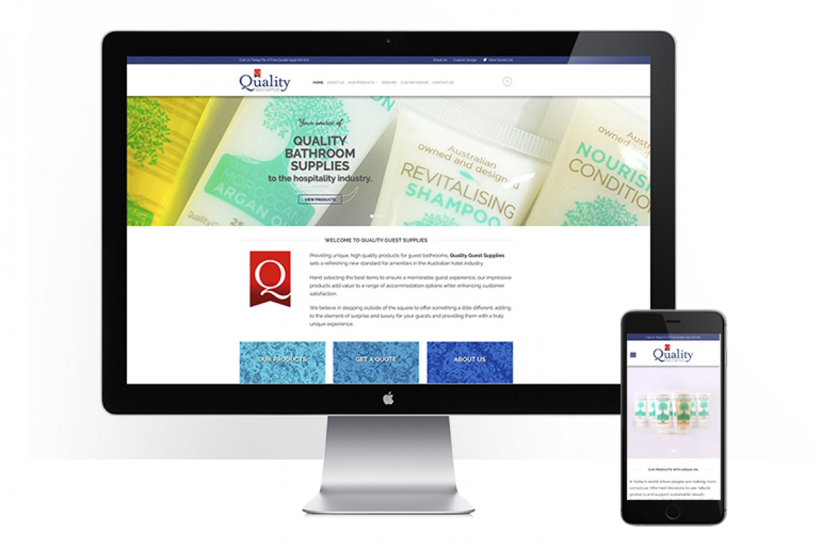 Quality Guest Supplies - responsive website design - welcome