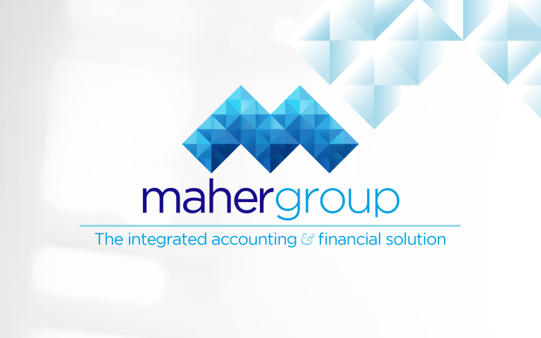 Maher Group logo - with tagline - with background