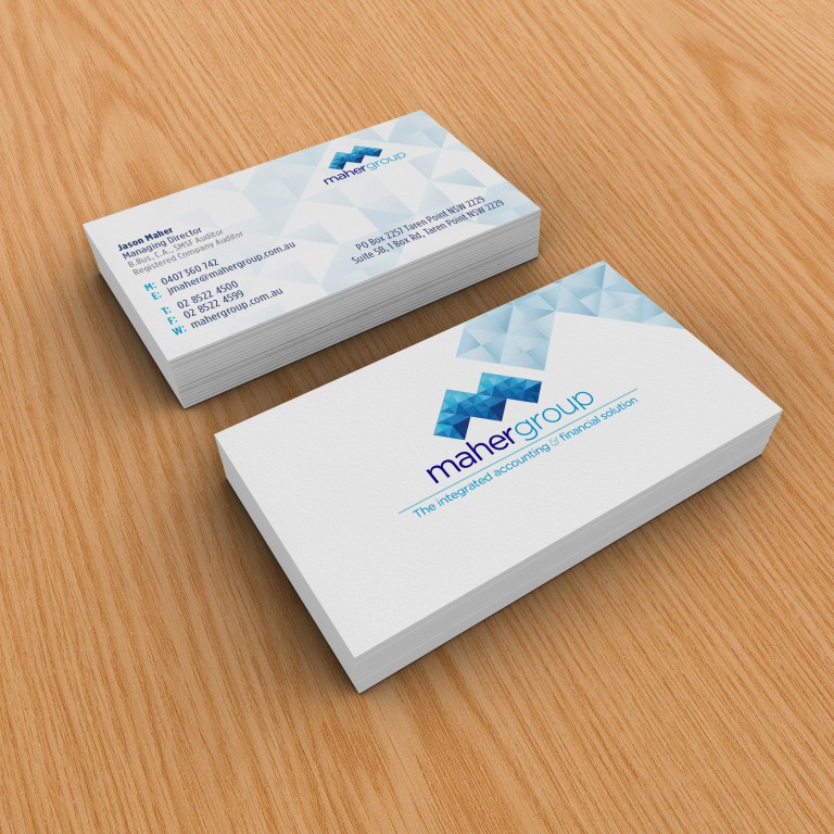 Maher Group - business card design