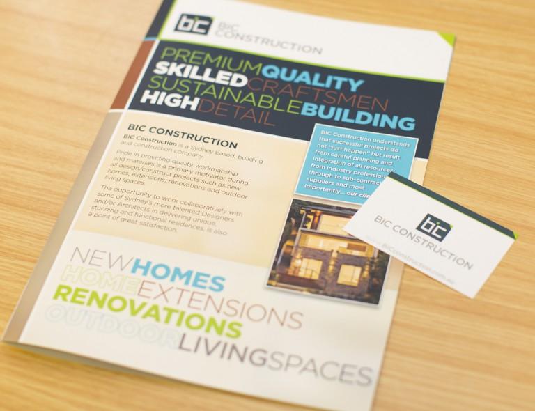 BIC Construction - brochure