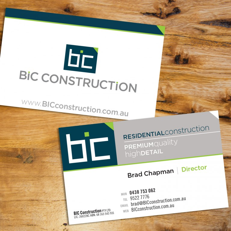 BIC Construction Stationery business cards