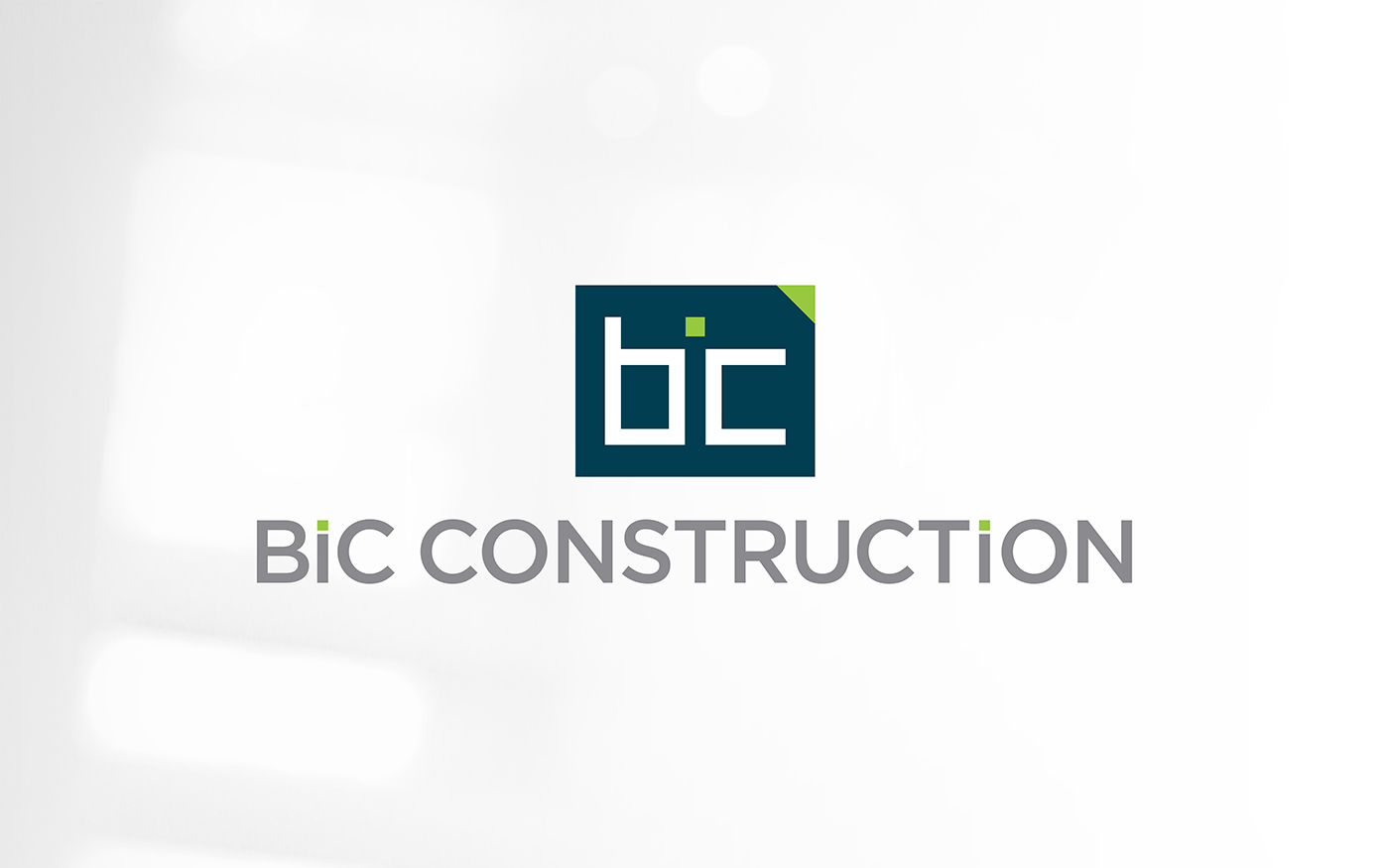 BIC Construction identity - Stack1 logo lockup