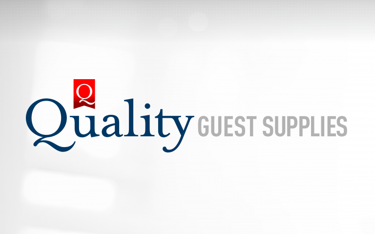 Quaity Guest Supplies - linear logo positive