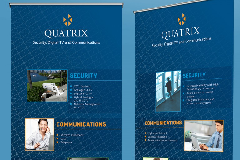 quatrix services banners closeup crop