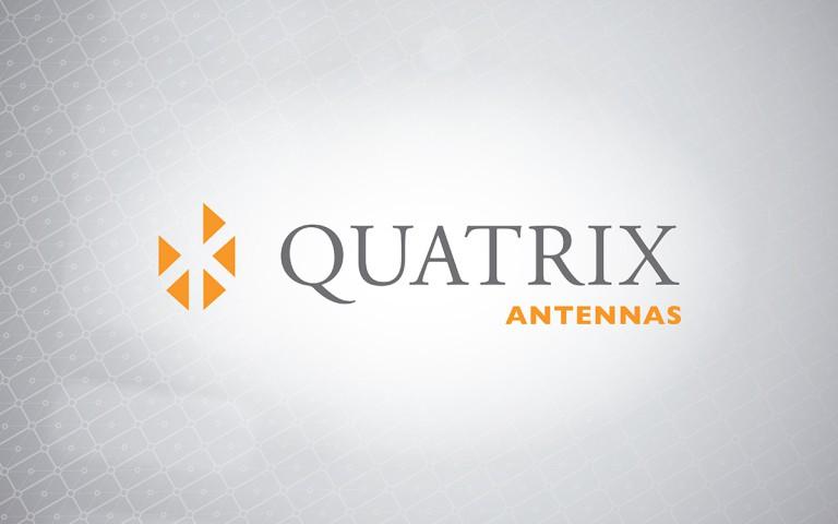 quatrix antennas linear logo positive