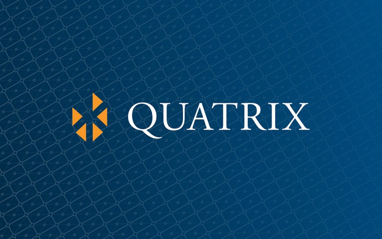 quatrix corporate logo linear reverse