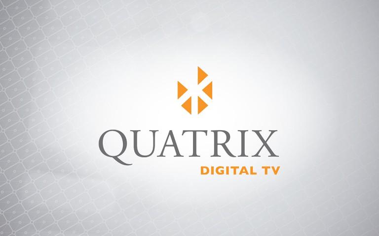 quatrix digital TV  logo stack positive