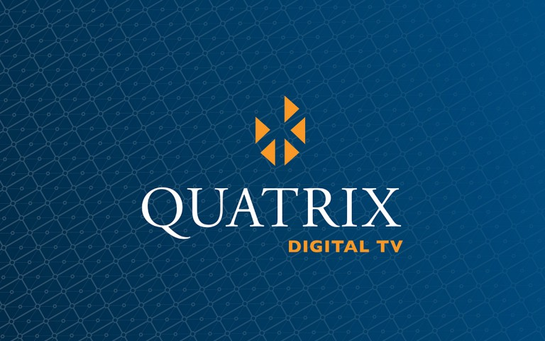 quatrix digital TV  logo stack reverse