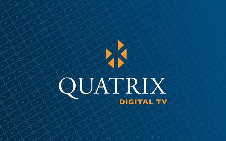 quatrix digital TV  logo stack reverse