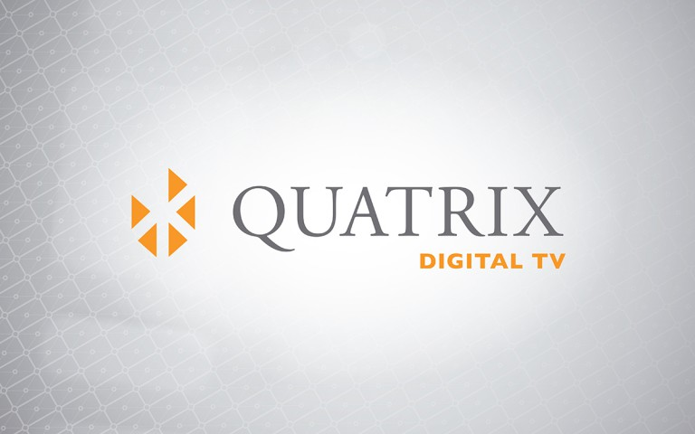 quatrix digital TV  logo linear positive
