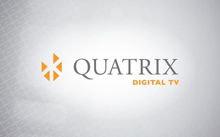 quatrix digital TV  logo linear positive
