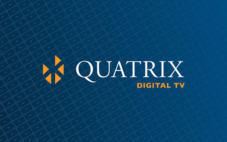 quatrix digital TV  logo linear reverse