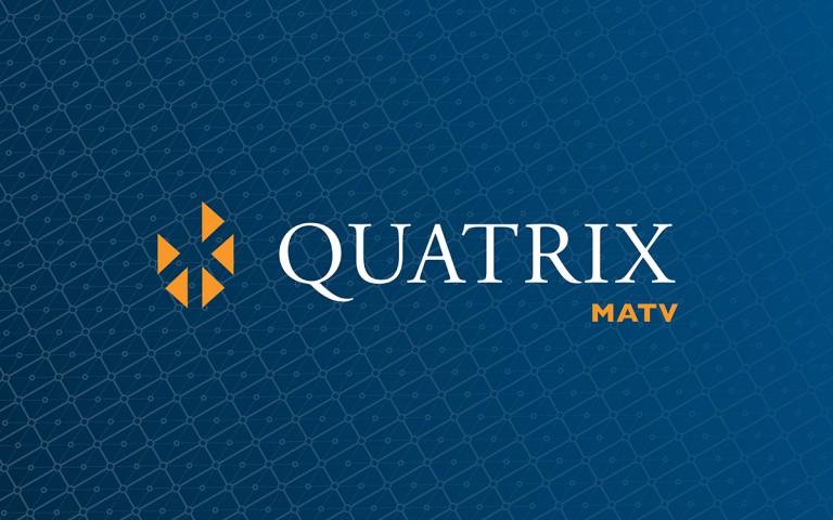quatrix matv logo linear reverse
