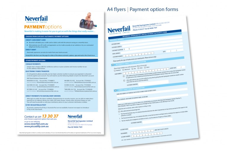 Neverfail Springwater Limited - application forms