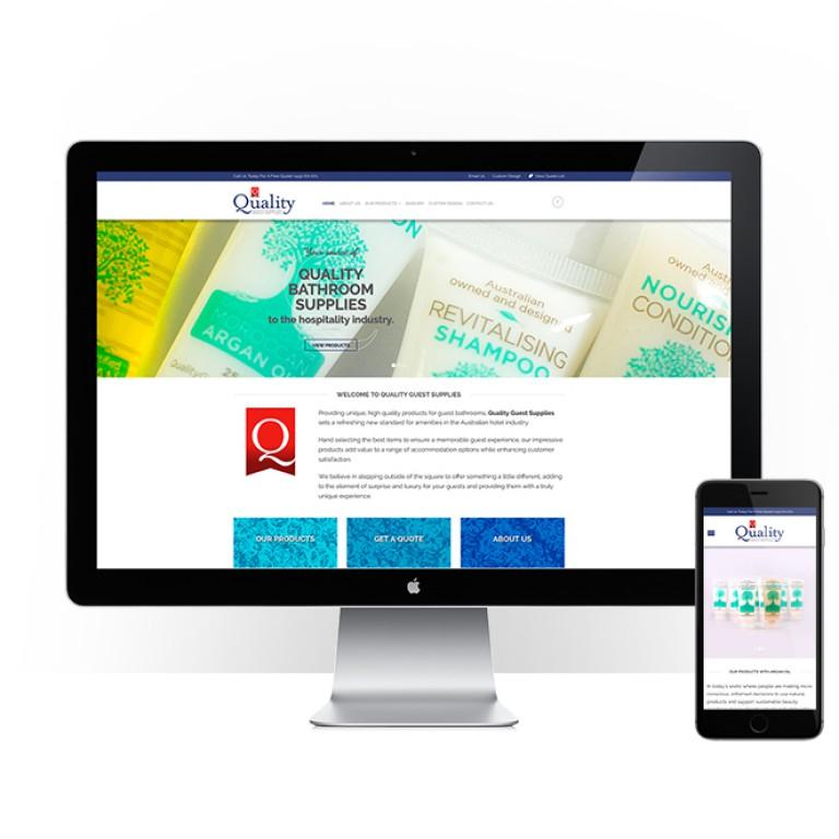 Quality Guest Supplies - responsive website design - feature