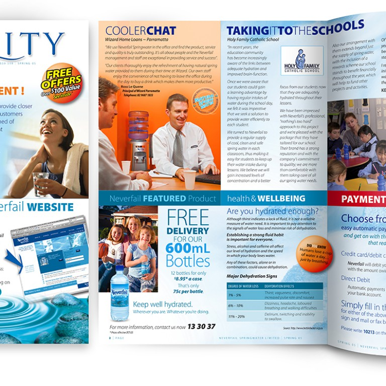 Neverfail Springwater Limited - vitality newsletter print