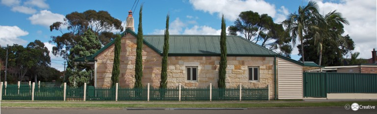 Downey Cottage 1847 - 150 year old, convict built, sandstone cottage - Street view