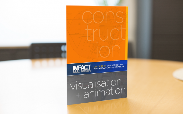 Impact Multimedia Roll Fold Brochure Cover - construction